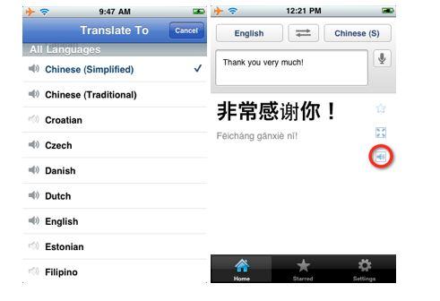 Tłumacz Google dla iPhone