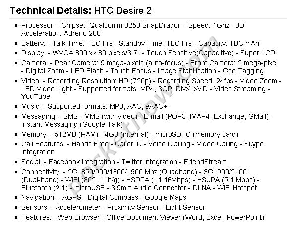 htcdes2-specs