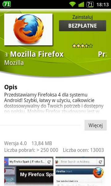 Firefox 4 - wersja na Android