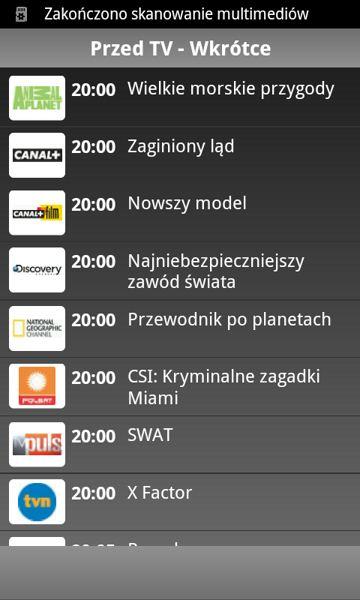 Program TV & Repertuar Kin
