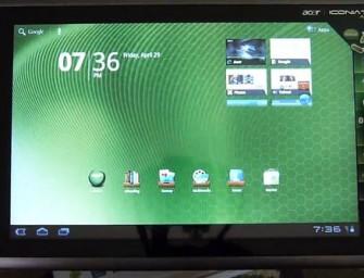 Ice Cream Sandwich dla Acer Iconia Tab A500 w kwietniu