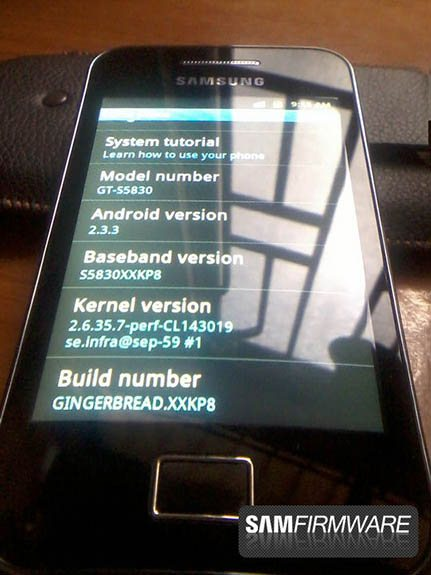 Samsung Galaxy Ace - Gingerbread