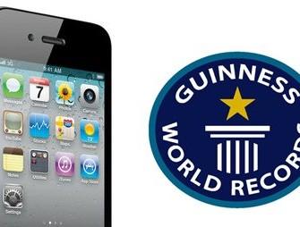 Rekord Guinnessa dla iPhone 4 oraz App Store