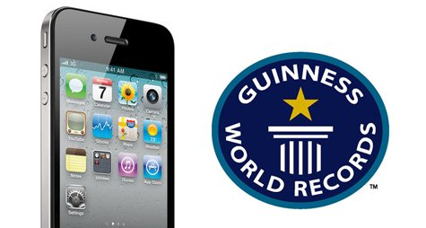 Rekord Guinnessa dla iPhone 4 i App Store
