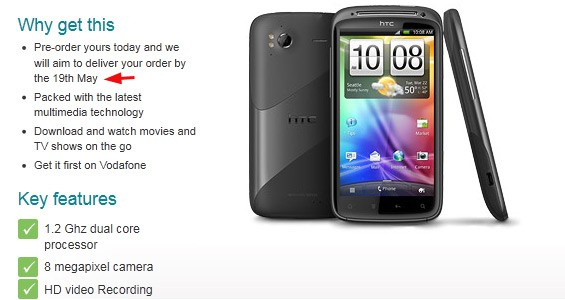 HTC Sensation - w Vodafone UK