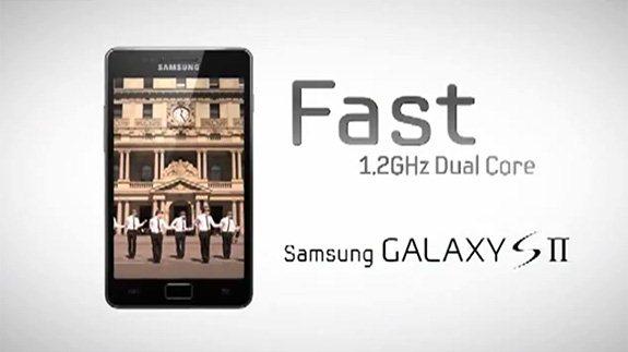 Samsung Galaxy S II - reklama CPU