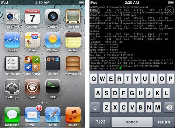 Apple iOS 5 - Jailbroken