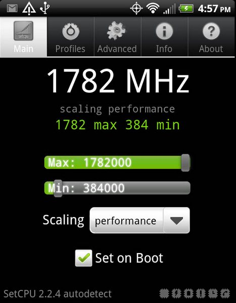 HTC Evo 3d - overclocked
