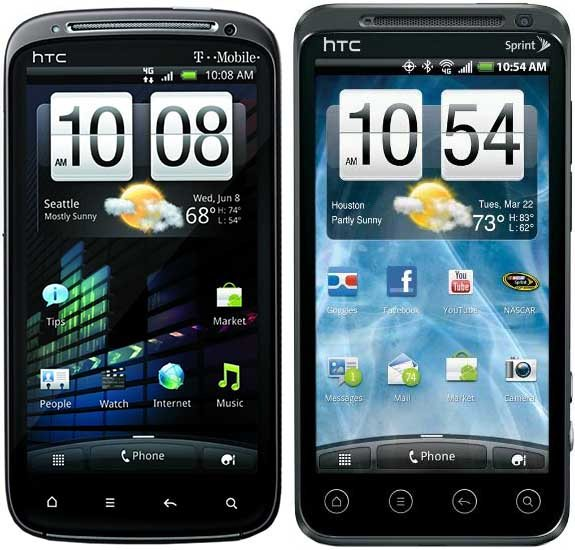 HTC Sensation i EVO 3D