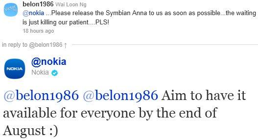 Symbian Anna - sierpniowa aktualizacja