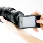 iPhone 4 - przystawka do obiektywu