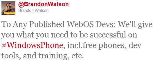 Microsoft przekonuje deweloperów webOS