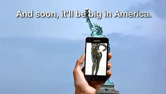 Samsung Galaxy S II - reklama USA