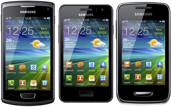 Samsung Wave III, M, Y