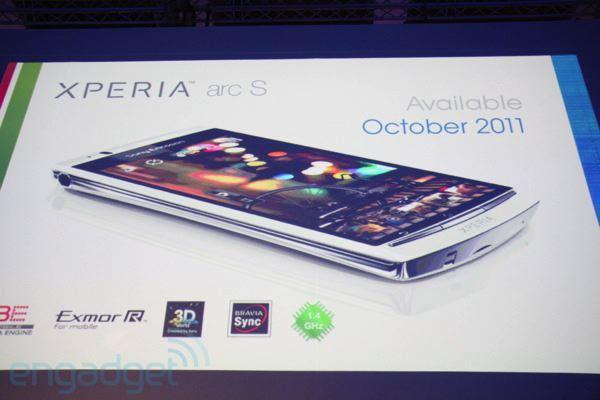 Sony Ericsson Xperia Arc S - IFA 2011