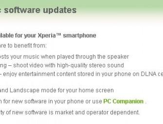 Nowa aktualizacja dla Xperia Arc i PLAY