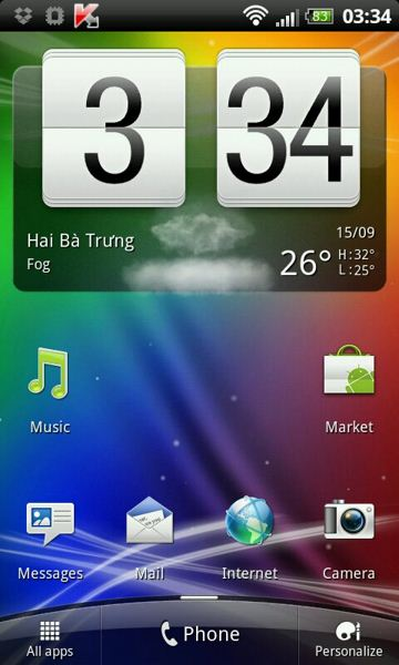 HTC Desire S i HD z Sense 3.5