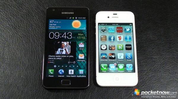 Apple iPhone 4S vs Samsung Galaxy S II - test szybkości