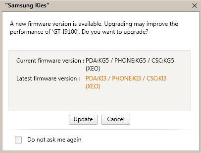 Samsung Galaxy S II - aktualizacja KI3