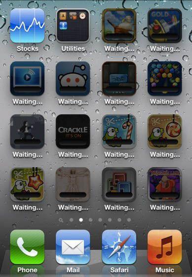 Apple iOS 5.0.1 - waiting