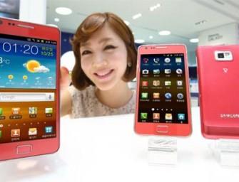 Różowy Galaxy S II w Korei Płd.