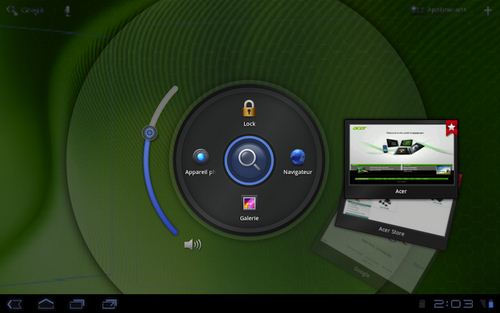 Acer ICONIA TAB A200 - launcher