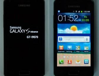 Samsung Galaxy S Advance – nieoficjalnie