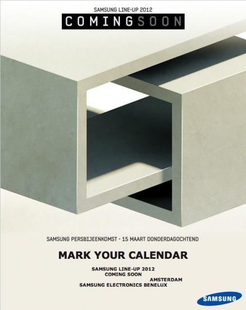 Samsung - 15 marca 2012 - zaproszenie
