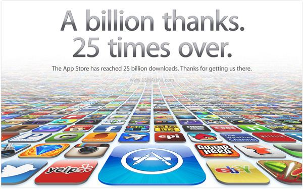Apple App Store - 25 miliardow sciagniec