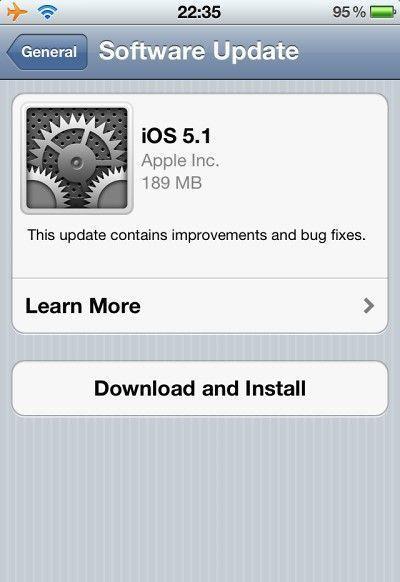 Apple iOS 5.1 - aktualizacja