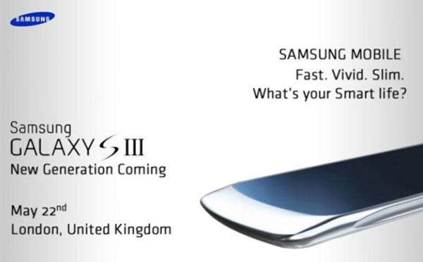 Samsung Galaxy S III - zaproszenie