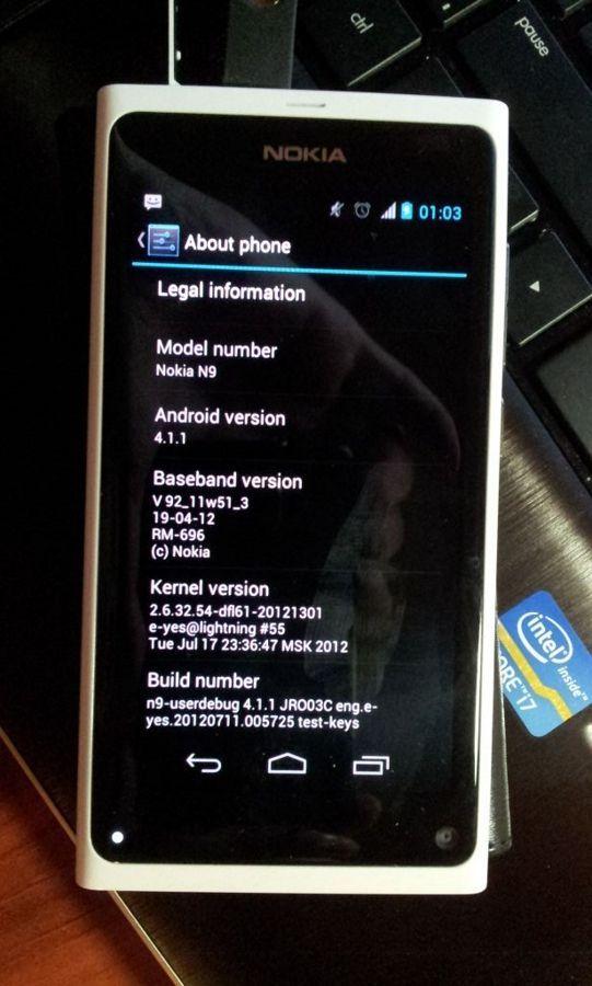 Nokia N9 - Android 4.1.1 JellyBean