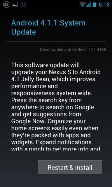 Samsung Google Nexus S - Android 4.1.1