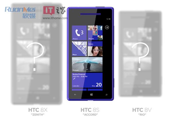HTC 8X, 8S oraz 8V