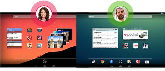 Android 4.2 Jelly Bean - konta użytkowników