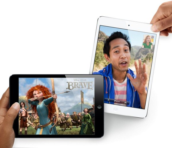 Apple iPad mini - czarny i biały
