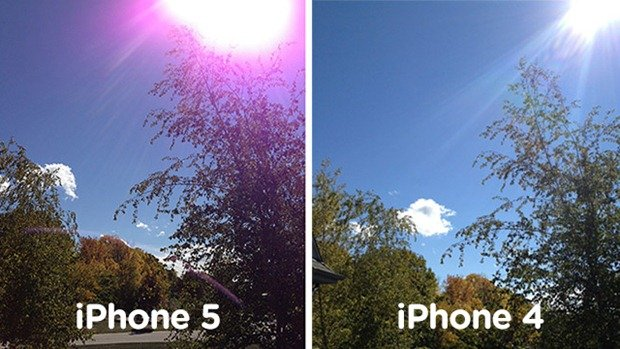 Apple iPhone 5 vs iPhone 4 - fioletowe zdjęcia