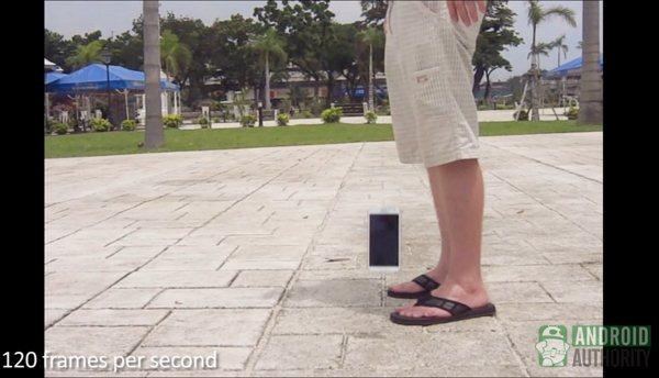 Samsung Galaxy Note II - upadek