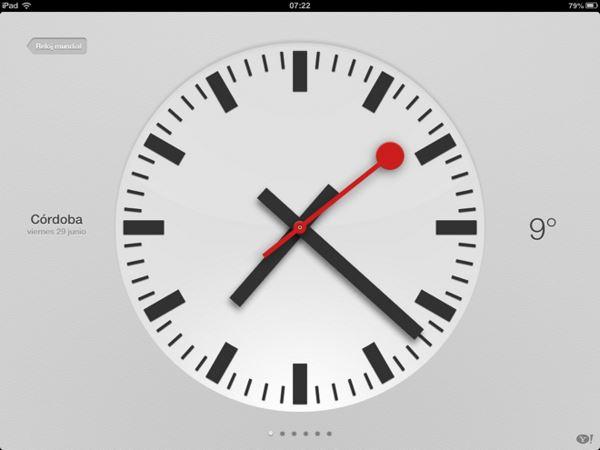 Apple iOS 6 - zegar