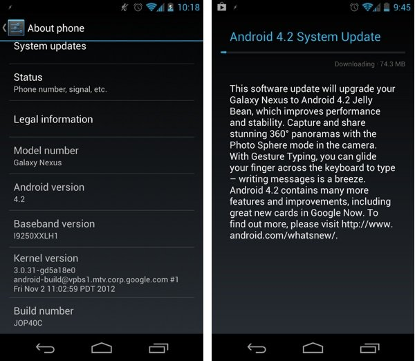 Samsung Galaxy Nexus - Android 4.2