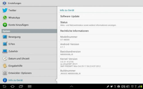 Samsung Galaxy Note 10.1 - Jelly Bean