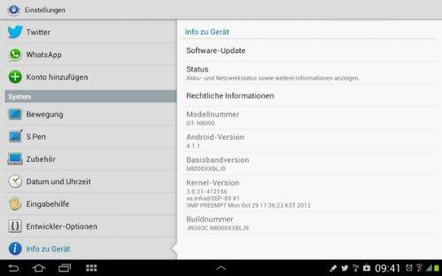Samsung Galaxy Note 10.1 - Jelly Bean