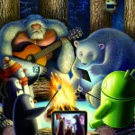Google dla Android – Świąteczna tapeta – ognisko