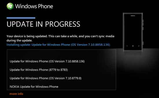 Nokia Lumia 800 WP 7.8