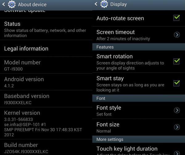 Samsung Galaxy S III - Android 4.1.2
