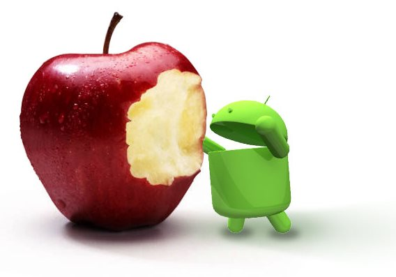 Android zjada Apple