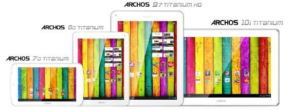 Archos Titanium 70, 80, 97 i 101