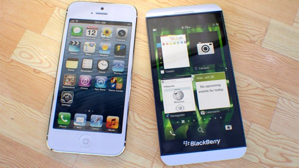 BlackBerry Z10 i iPhone