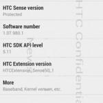 HTC M7 - wersja systemu