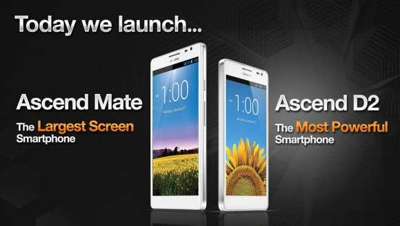 Huawei Ascend Mate oraz Ascend D2